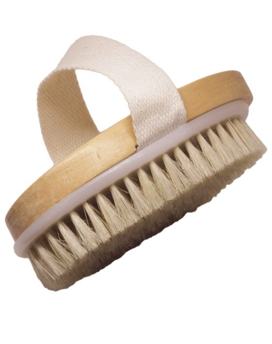 Natural Bristle Body Brush Dry Brushing