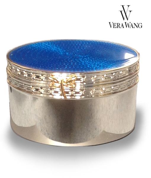 Vera Wang With Love Dragonfly Silver treasures enamel trinket box