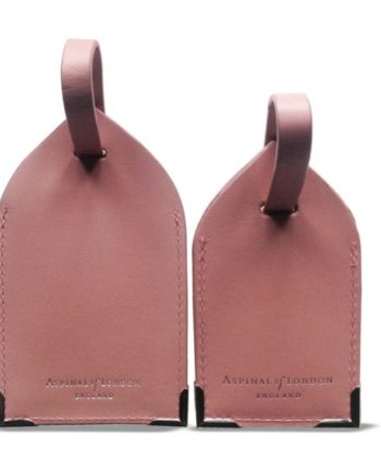 90dccd4f0b6da Aspinal of London Dusky Pink Polished Leather Luggage tags