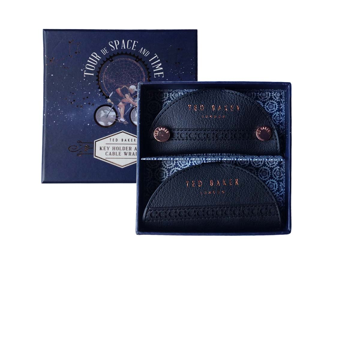 TED BAKER Space & Time Key Holder and Cable Wrap duo