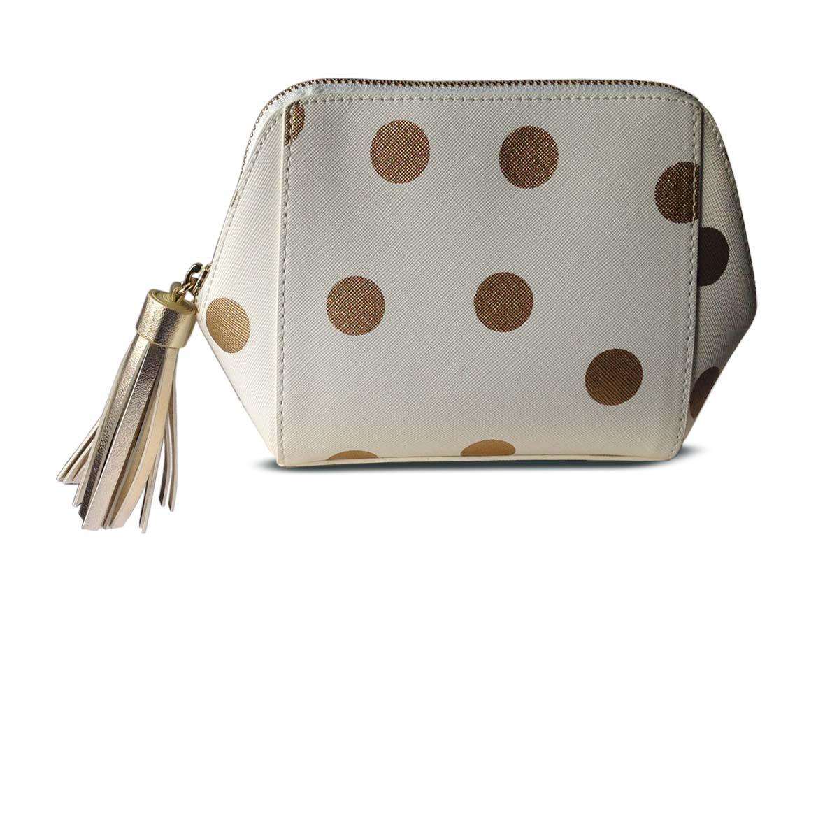 75ef11c34ba5d6 HOBBS Madison Gold Spot Cosmetic Bag - finga-nails