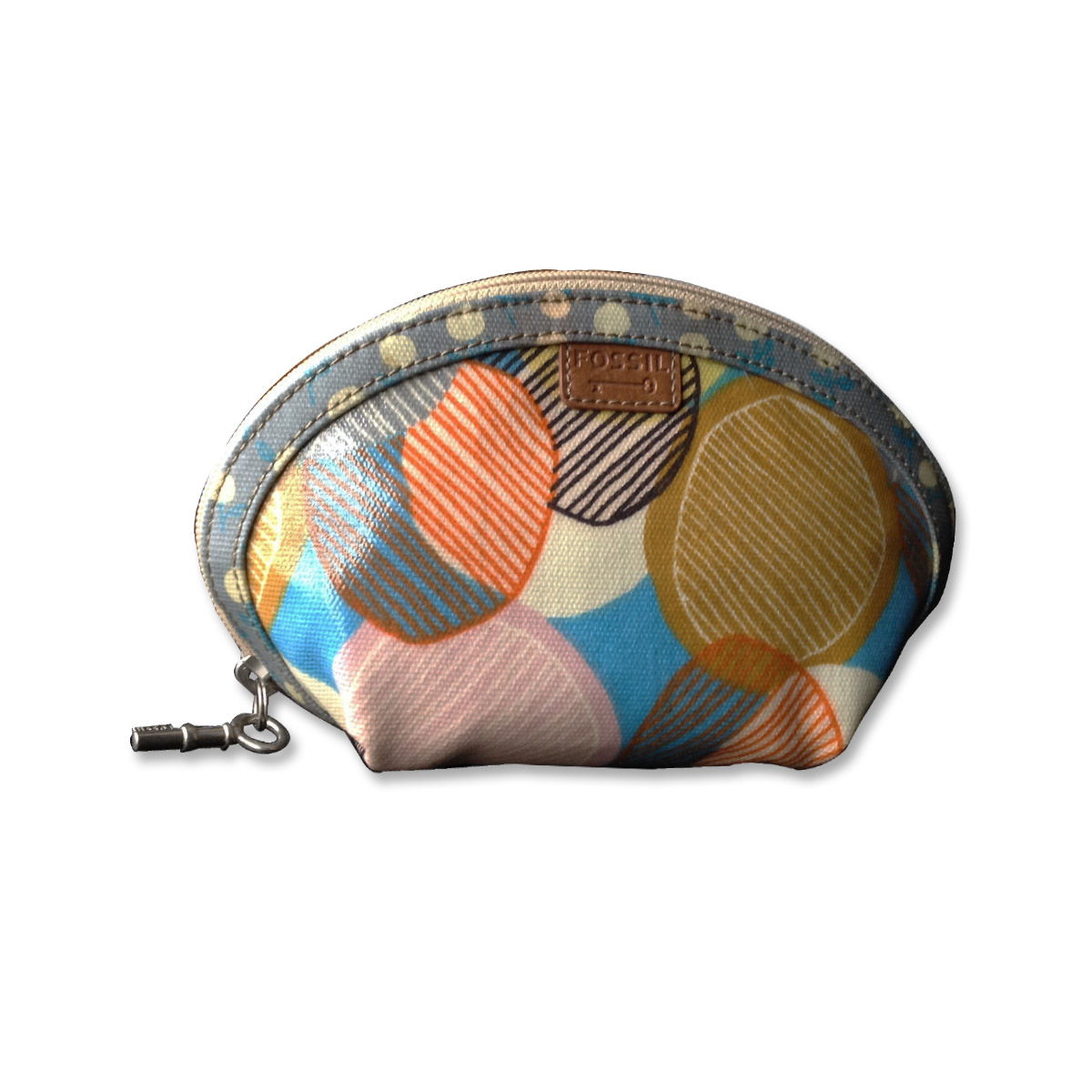 Fossil Key Per Small Domed Cosmetic Bag