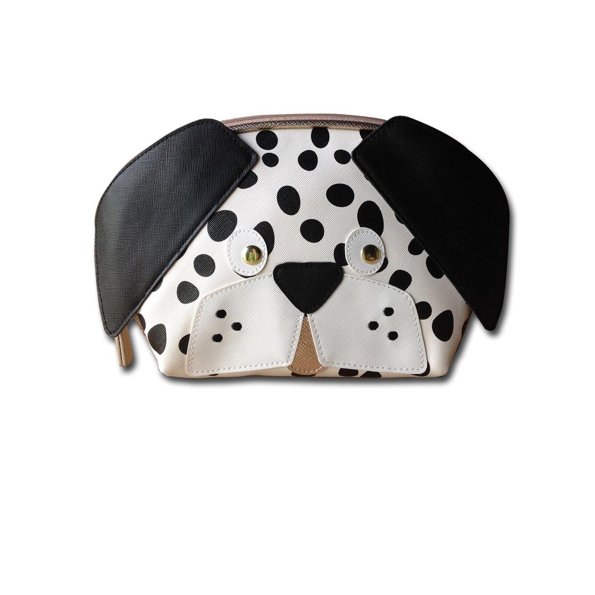 Stella And Max Dalmatian Dog Cosmetic Bag Finga Nails